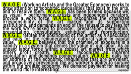 W.A.G.E. Certification - Working Artists And the Greater Economy (W.A.G.E.)